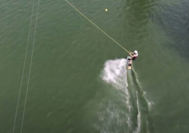 Dron video wakeboard