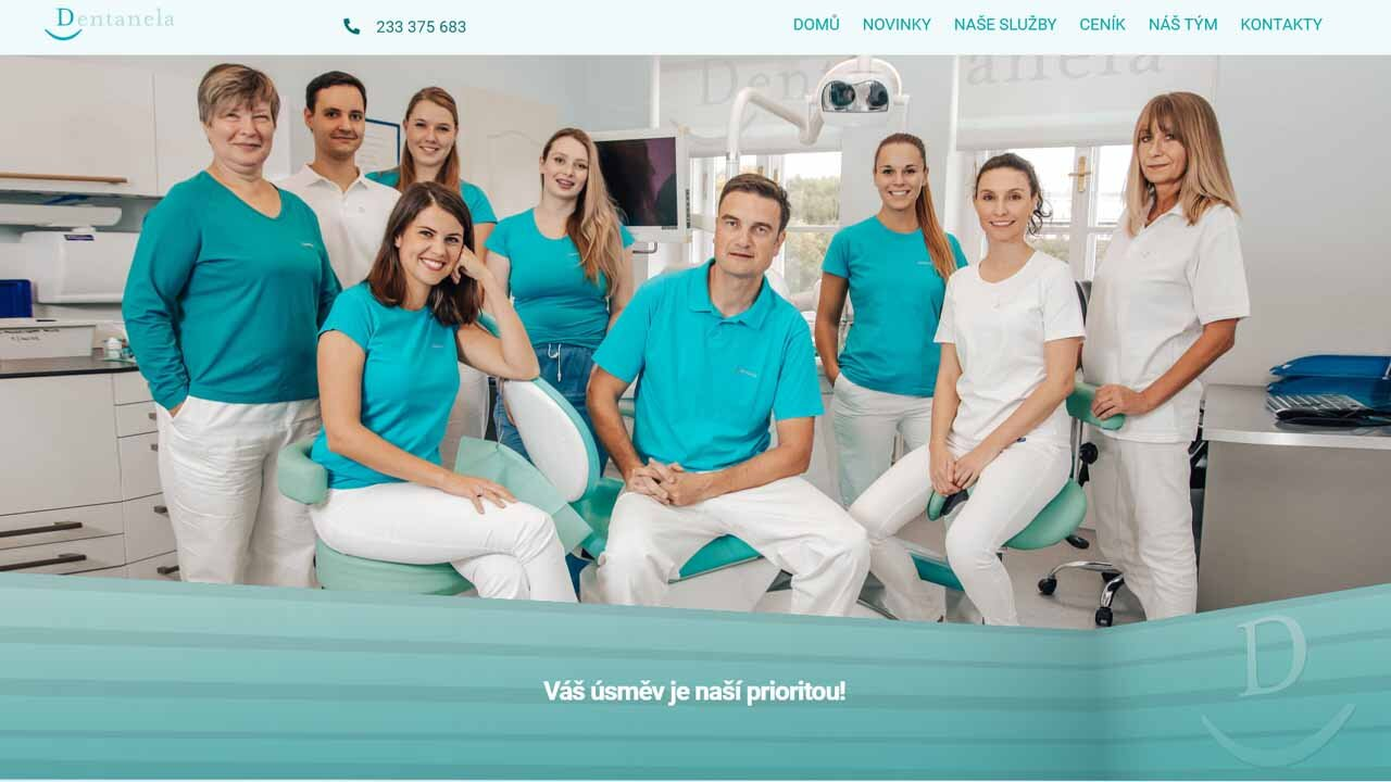 Tvorba webu pro firmu Dentanela