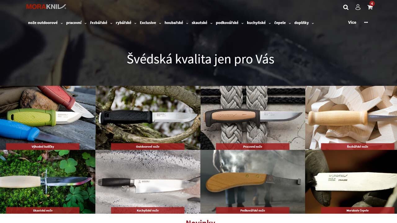Tvorba webu pro firmu Morakniv